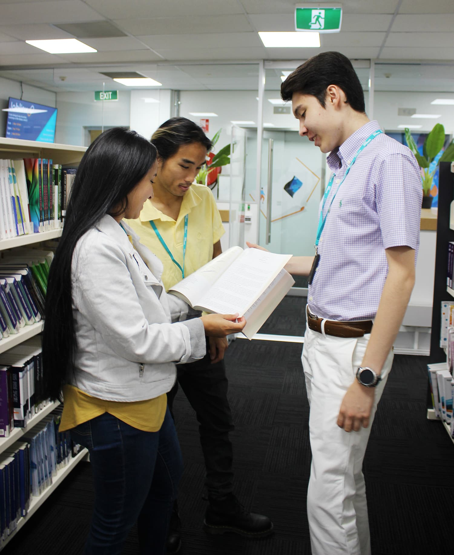 SRI students study in the Resource Centre on campus